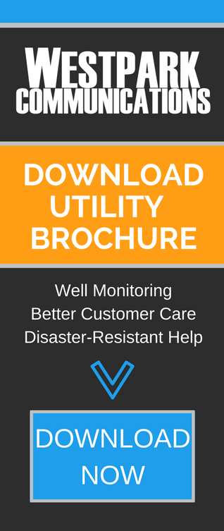 Download Utility Brochure - Black, Orange, and Blue w/ White Text