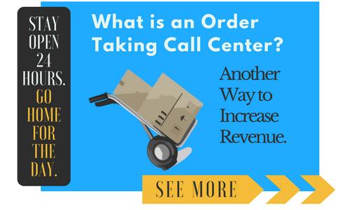 Order Taking Call Center CTA Button
