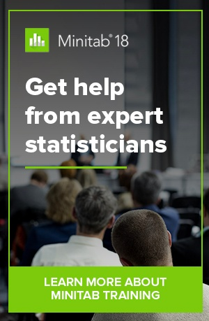Get help from the experts statisticians. Learn more about Minitab Training.