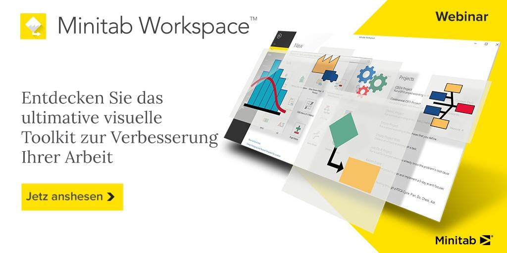 Minitab Workspace: Entdecken Sie das ultimative visuelle Toolkit zur Verbesserung Ihrer Arbeit