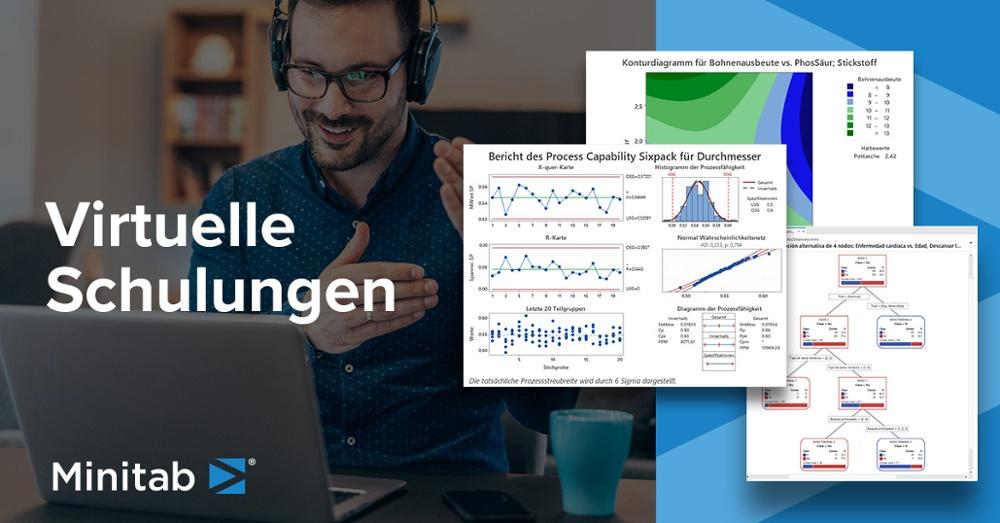 Flexible, praktische Minitab-Schulungen: In den von Statistikexperten geleiteten Kursen erfahren Sie, wie Sie Einblicke in Ihre Daten erhalten und die Qualität Ihrer Produkte und Dienstleistungen verbessern.