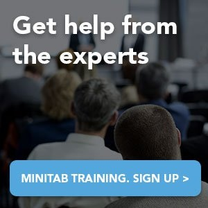 Get help from the experts. Sign up for Minitab Training.