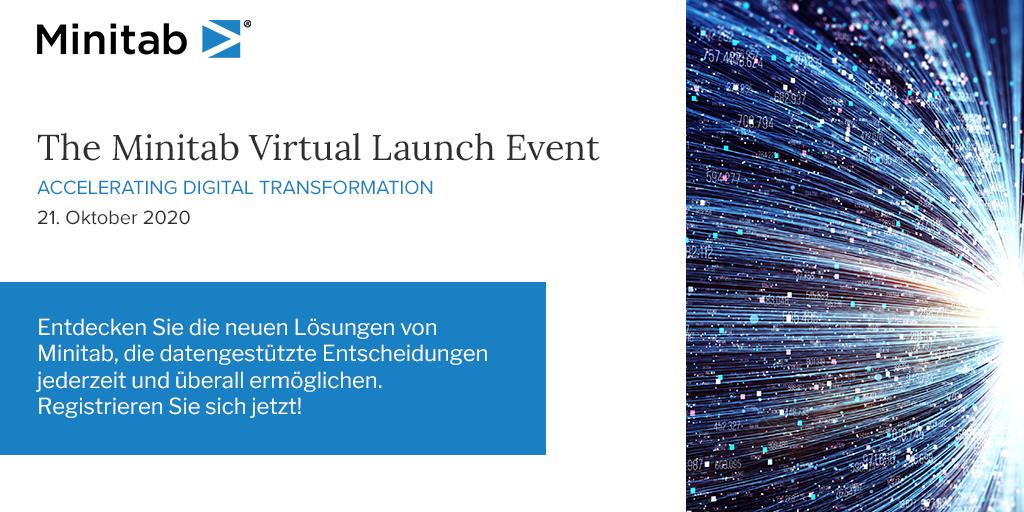 Minitab Virtual Launch Event am 21. Oktober 2020 um 16H30