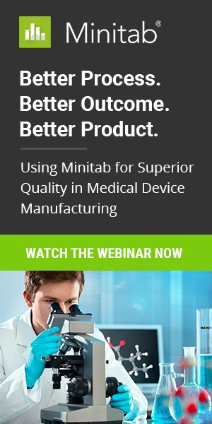 Better Process. Better Product. Better Outcome. Using Minitab Statistical Software for Superior Quality in Medical Device Manufacturing