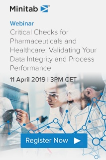 Webinar 11 April 2019: Critical checks - Validating your Data integrity and Process Performance