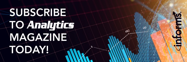Sign up for a free subscription to Analytics Magazine