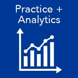 Search the program for practice analytics tracks