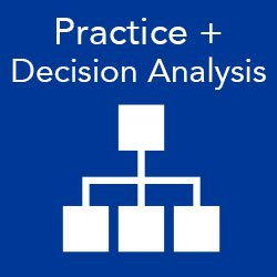 Search the program for practice and decision analysis sessions