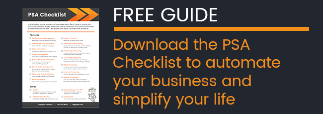 Tigerpaw Software - PSA Checklist - Free guide - business automation