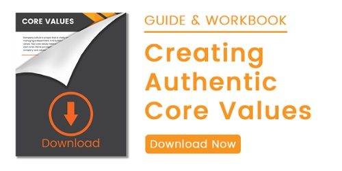 Building a great company culture starts with creating authentic core values. Download this guide and workbook to help you through the process.