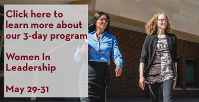 Click here to learn more about our 3-day program Women In Leadership