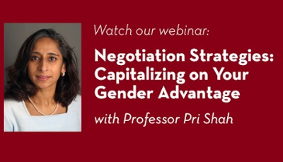 Watch our webinar: Negotiation Strategies: Capitalizong on Your Gender Advantage