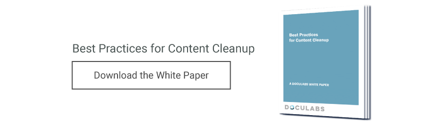 Best Practices for Content Cleanup