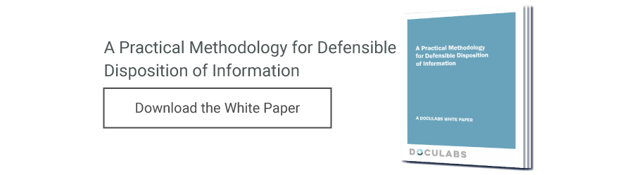 A Practical Methodology for Defensible Disposition of Information