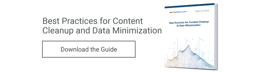 Request the Guide to Content Cleanup and Data Minimization