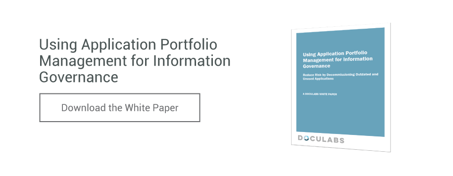 Download the Using Application Portfolio Management for Information Governance White Paper