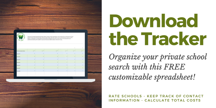 Download the FREE private school application tracker