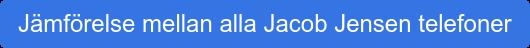 Jämförelse mellan alla Jacob Jensen telefoner