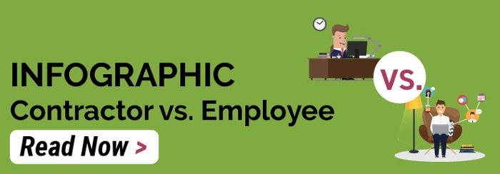Contractor vs Employee Infographic  - Read Now