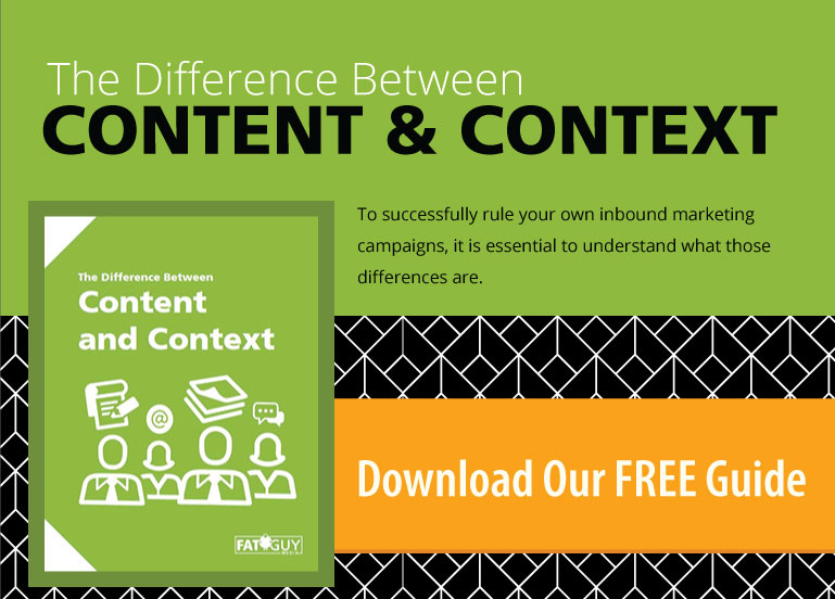 The Difference between content and context - a downloadable guide