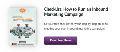 inbound marketing campaign checklist button