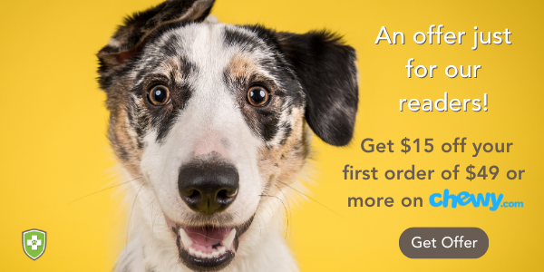 Get $15 off your first order of $49 of more on Chewy