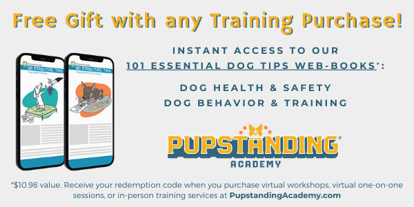 free gift with any training purchase at pupstanding academy