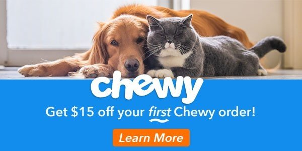 Get $15 off your first Chewy order courtesy of Preventive Vet