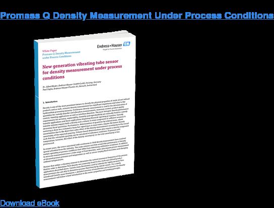Promass Q Density Measurement Under Process Conditions Download eBook
