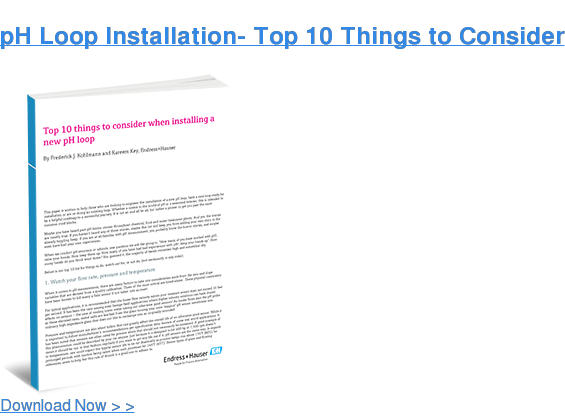 pH Loop Installation- Top 10 Things to Consider  Download Now > >