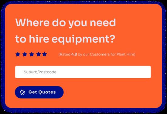 Excavator Hire Get Rates Form