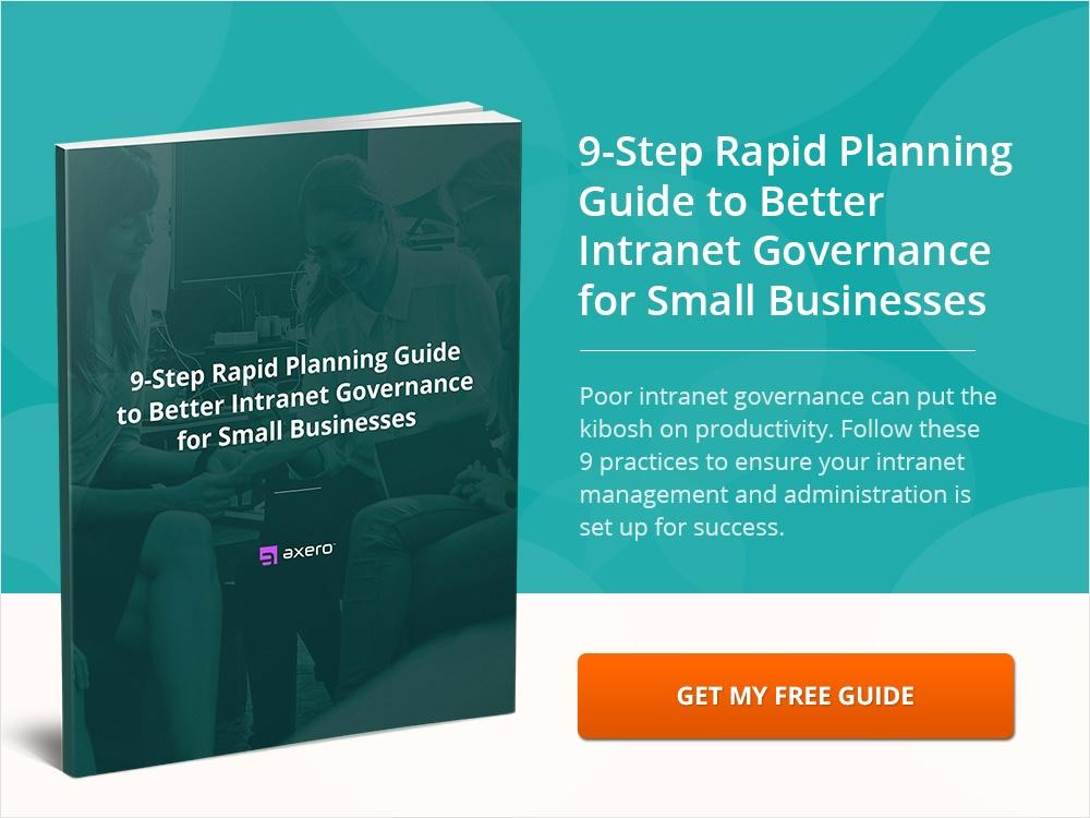 9-Step Rapid Planning Guide to Better Intranet Governance for Small Businesses