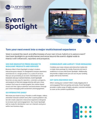 Event Spotlight Product Sheet