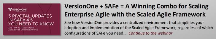 VersionOne + SAFe