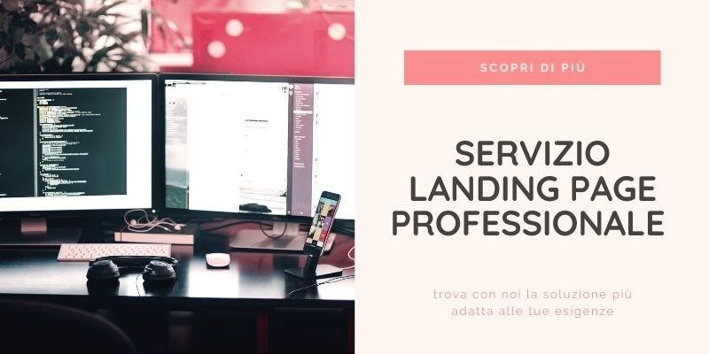 Servizio Professionale di creazione Landing Page