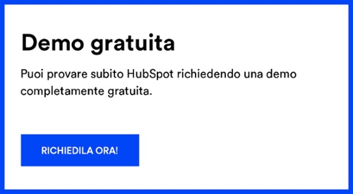 Richiedi subito una demo gratuita di HubSpot