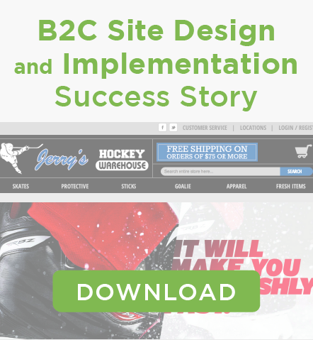 Jerry's Hockey B2C Site Design and Implementation
