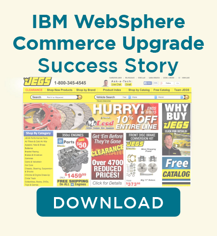 IBM WebSphere Commerce Upgrade JEGS
