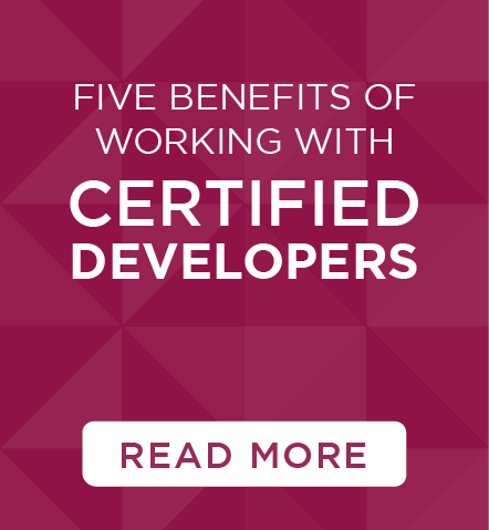 Value of working with certified developers