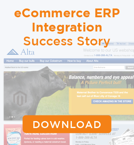 Alta Genetics eCommerce ERP Integration