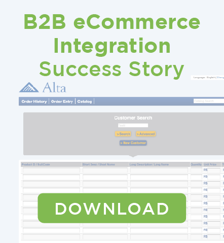 Alta B2B eCommerce Integration Case Study