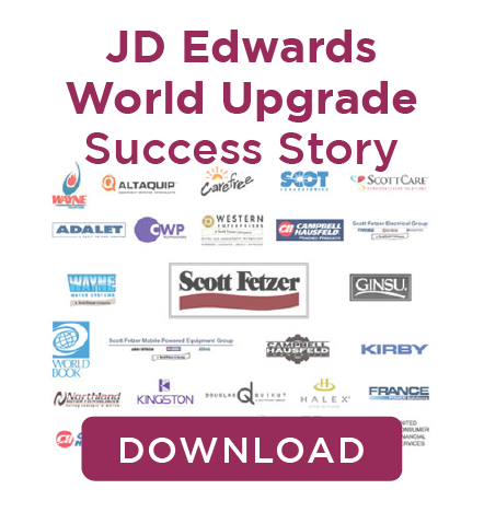 JD Edwards Upgrade Scott Fetzer Case Study