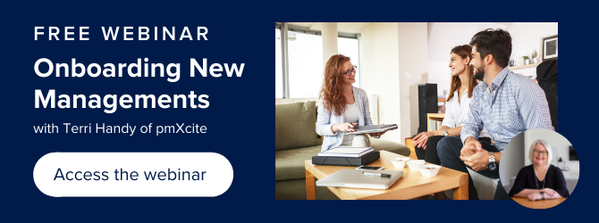 button to access the free webinar onboarding new managements