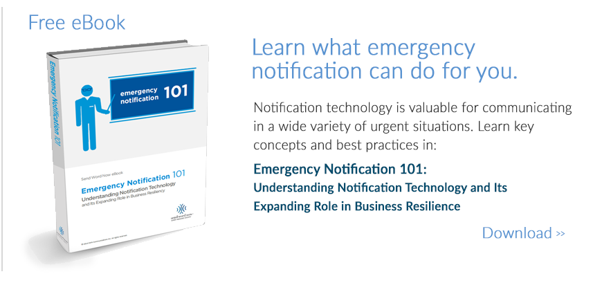 emergency notification ebook by Send Word Now