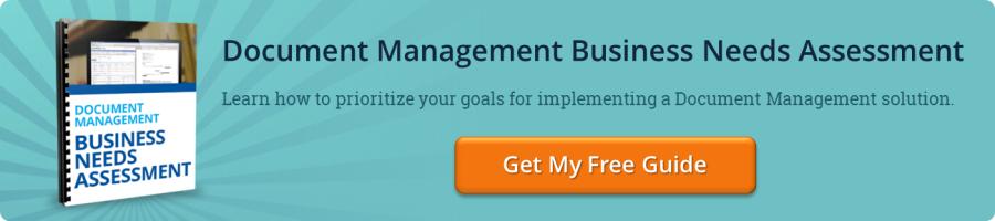 Document Management Business Needs Assessment