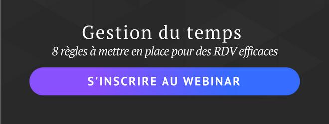 webinar gestion du temps et RDV efficaces