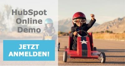 Jetzt zurr HubSpot Online Demo anmelden!