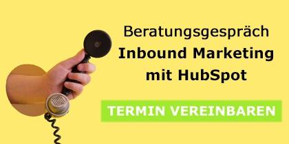 Inbound Marketing Beratungstermin: Sie wissen nicht genau, wie Sie HubSpot nutzen sollten, denn Ihnen fehlt eine gute Marketing Strategie zur Leadgewinnung? Wir beraten Sie gerne, wie Sie das mit Inbound Marketing ändern. Jetzt Termin vereinbaren!