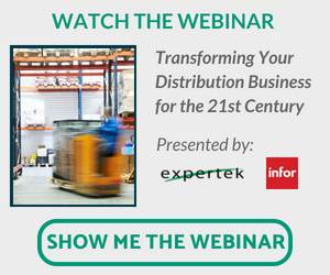 """Watch the Expertek Webinar, """"Transforming Your Distribution Business for the 21st Century."""""""