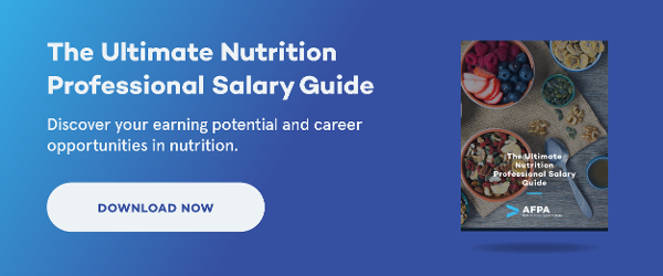 nutrition professional salary guide